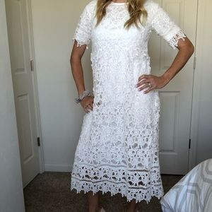 Orange Creek White Lace Dress